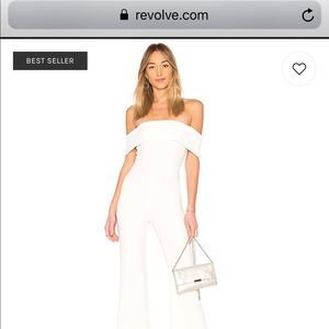 Pants - Aubrey Off Shoulder Jumpsuit in White